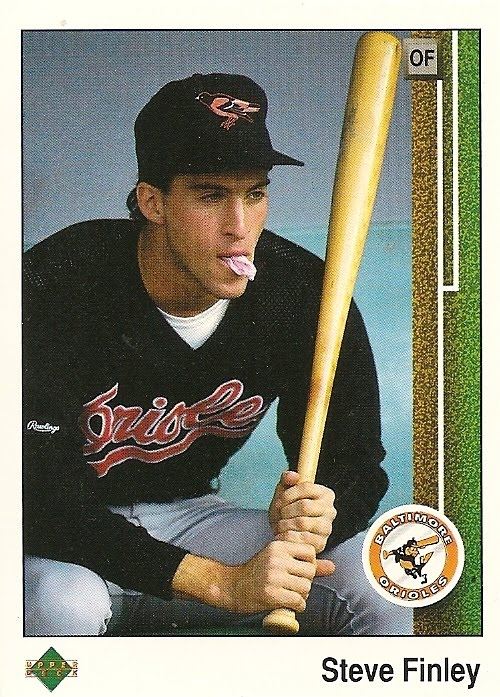 Orioles Card O The Day Steve Finley 1989 Upper Deck 742