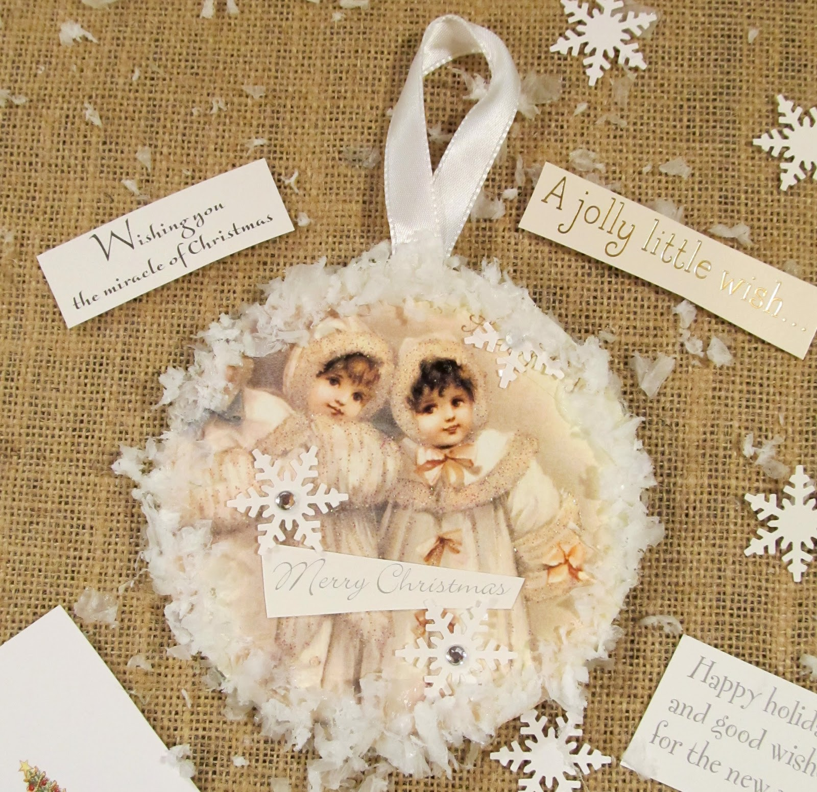 Cottage Hill: Vintage Style Recycled CD & Christmas Card