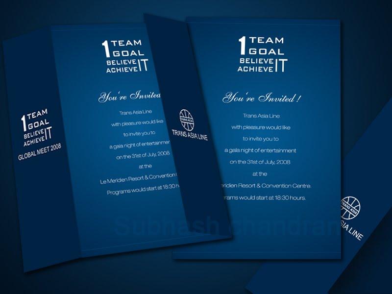 subhash designs: Corporate invitation