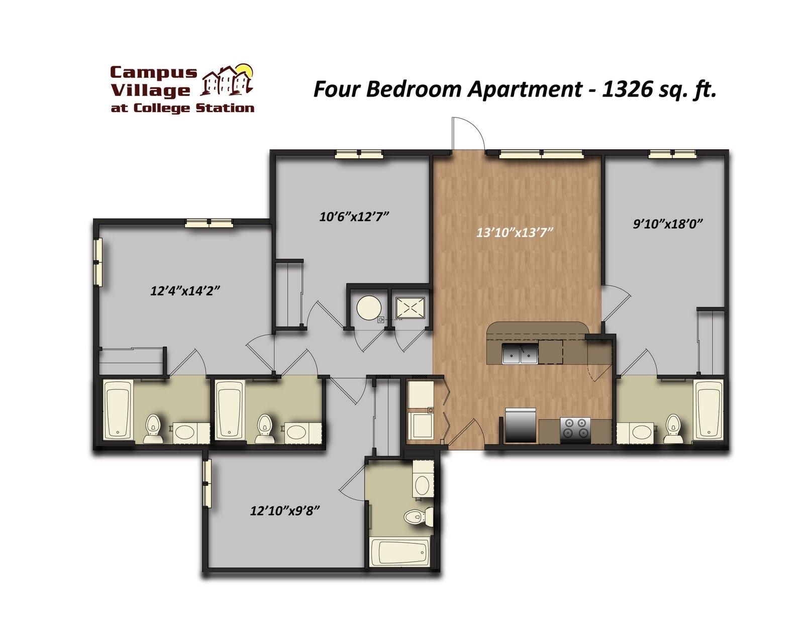 2 bedroom apartment floor plans myblog for 4 bedroom apartment floor plans