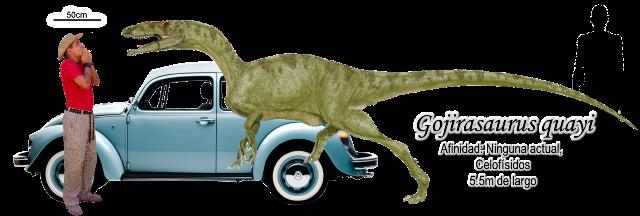 Gojirasaurus quayi a escala