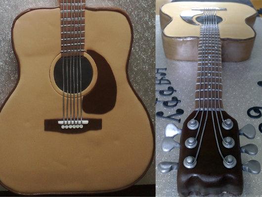 the secret garden guitar and piano shaped cake ideas. Black Bedroom Furniture Sets. Home Design Ideas