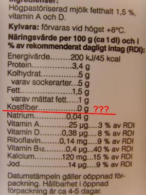 laktosfri lättmjölk näringsvärde