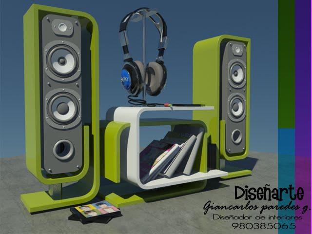 Dise arte mueble para equipo de sonido - Muebles para equipo de sonido ...