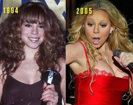 Mariah carey boob fake