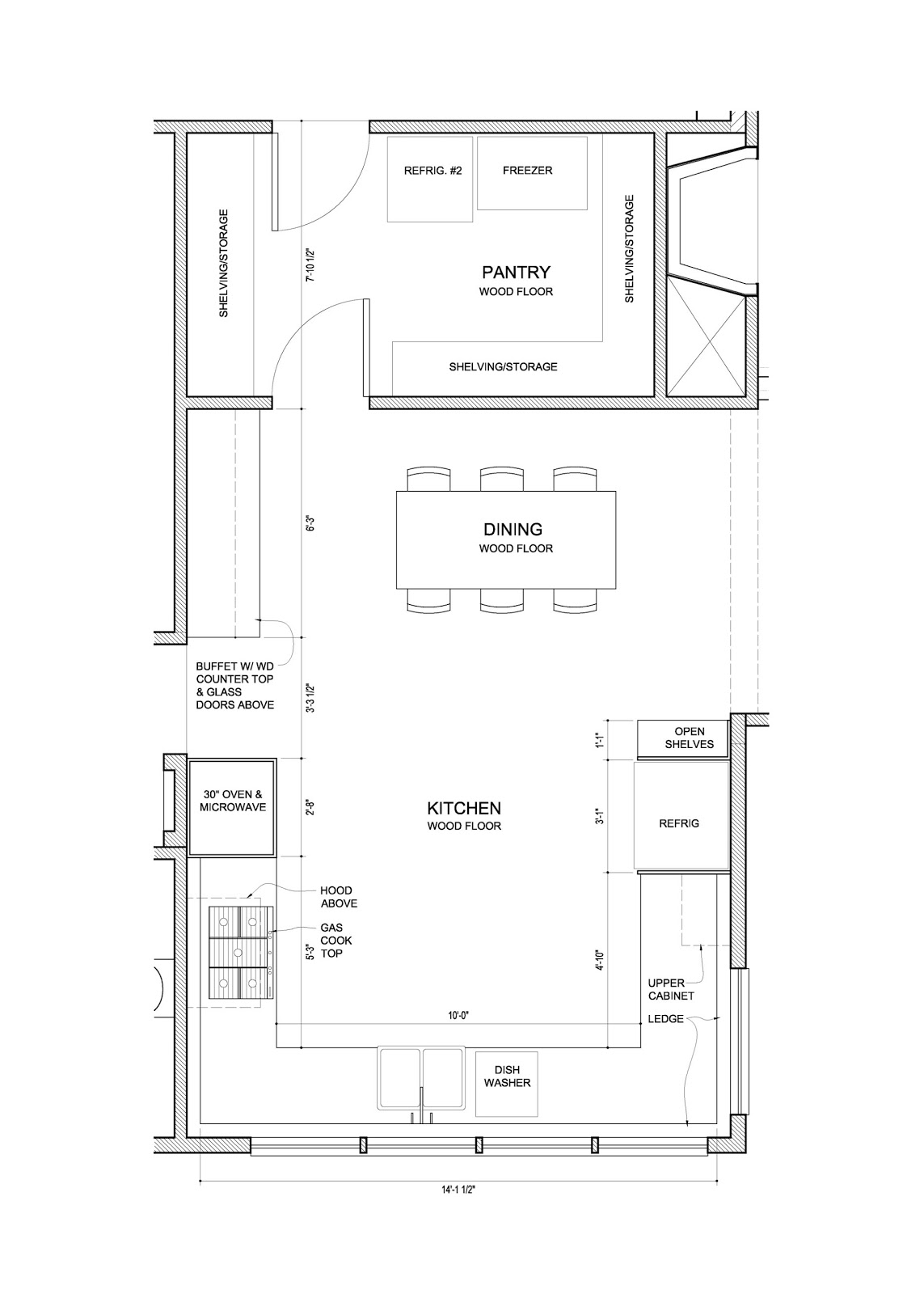 Kitchen Floor Plan with View
