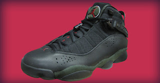 dfa449a81b1 The Air Jordan Six Rings - is reminiscent to an older Air Jordan 9.  Appearing in black, white, dark army, and varsity red, these sneakers lack  things like ...
