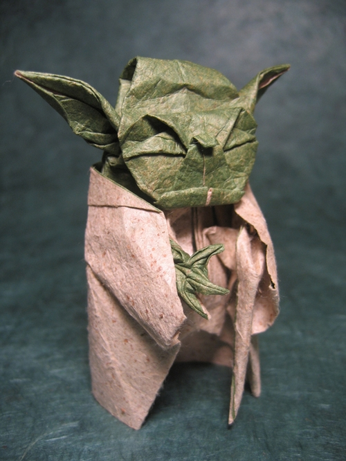 How to make an Origami Yoda from Star Wars in 5 minutes - Tutorial ... | 666x500