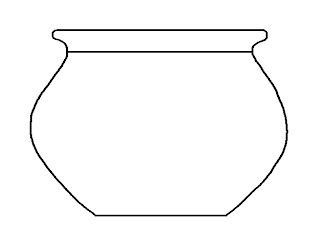 empty fishbowl colouring pages