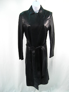 a6f520724 eBay Leather: Gucci black leather trench coat