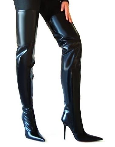 3c3b10e94e1 eBay Leather: Gio Hel Italian-made crotch-high boots