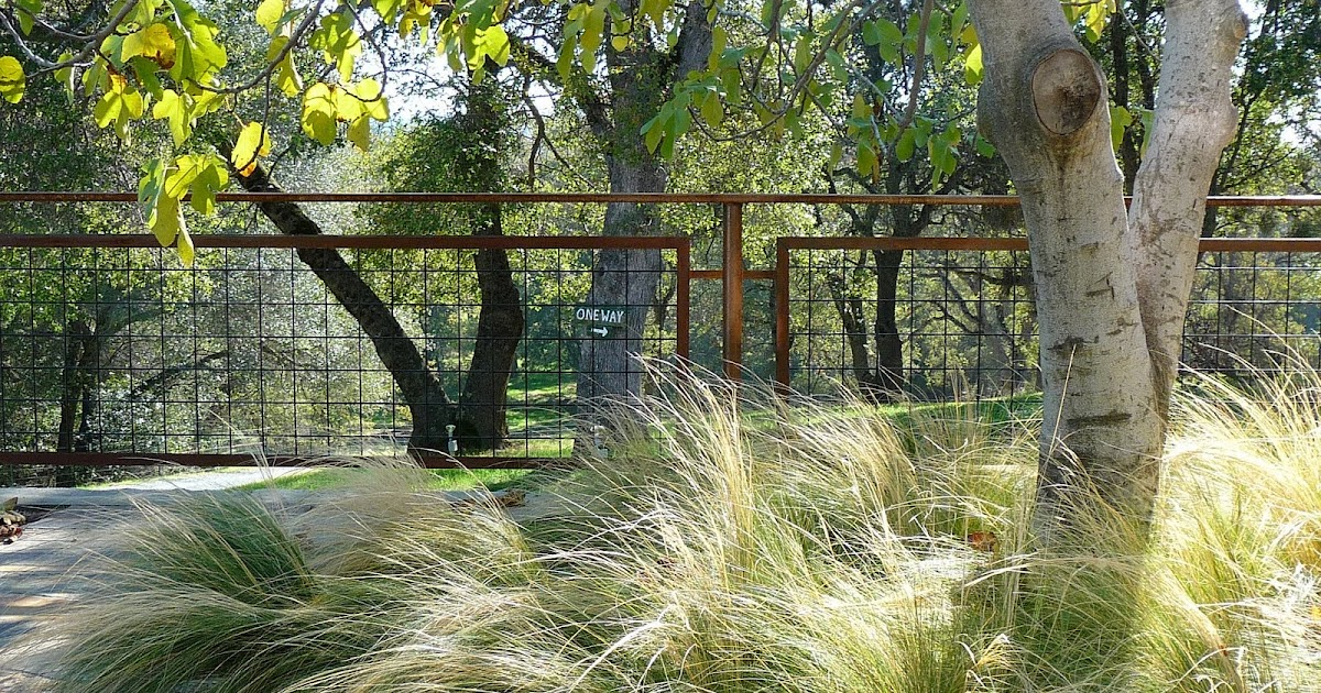Living Iron Hog Wire Fencing With Patina