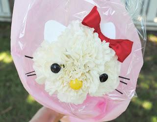 Hello Kitty de flores