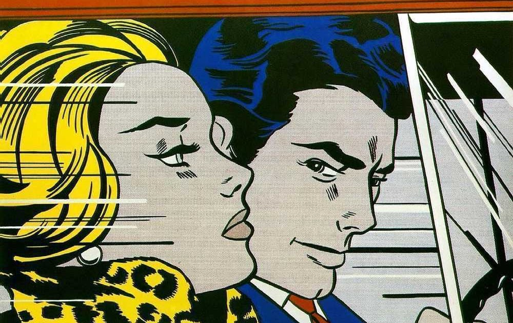 luke kapow in the car roy lichtenstein. Black Bedroom Furniture Sets. Home Design Ideas