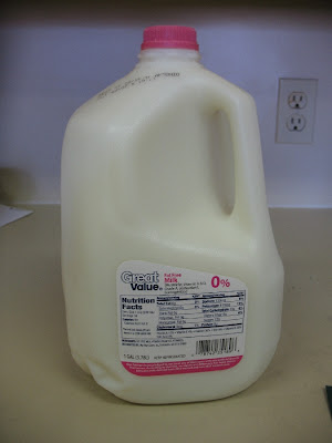 """Milk """"F"""" was Great Value brand fat free milk from Wal-Mart. This is the  standard. If we want something to taste """"like milk"""" this is what it should  taste ..."""