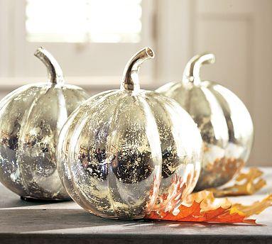 Faux Mercury Glass Pumpkins Frou Fru Gal Froo Froo Gal