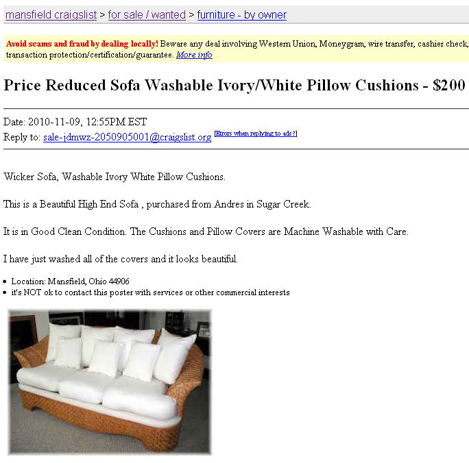 How to Score on Craigslist - frou•fru•gal: [froo-froo-'GAL]