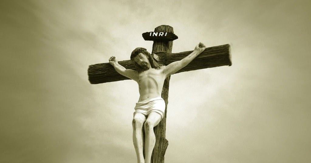 Crucifixion Picture Of Jesus Christ Withe Crown Of Thorns
