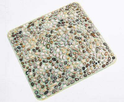 Casasplendente tappetini antiscivolo per box doccia jacuzzi for Pietre di fiume