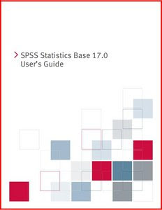 SPSS Statistics Base 17.0 users guide.