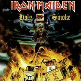 Portada Iron Maiden single holy smoke