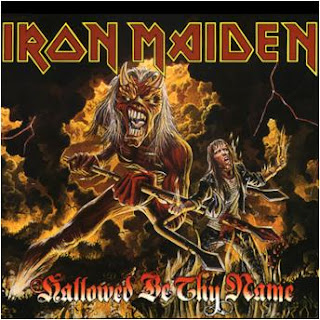 Portada Iron Maiden single hallowed be thy name