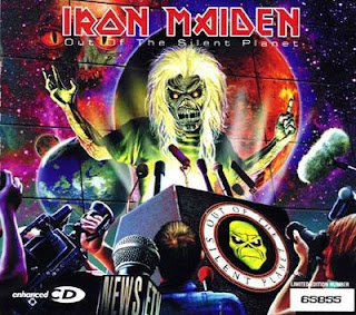 Portada Iron Maiden out of the single planet alternativa