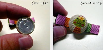 Gwenny Penny: Covered Button Hair Clip Tutorial