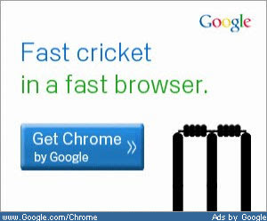 Google Chrome IPL Twenty20 Ad