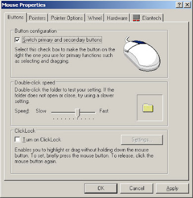 Mouse Properties on Windows XP