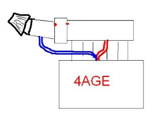 fig 6 - pcv hose rerouting on cut-n-shut