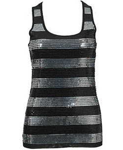 Forever 21 sequin stripe tank top