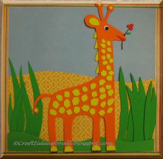 Craft Ideas For All Handmade Nursery Wall Art Part I Giraffe
