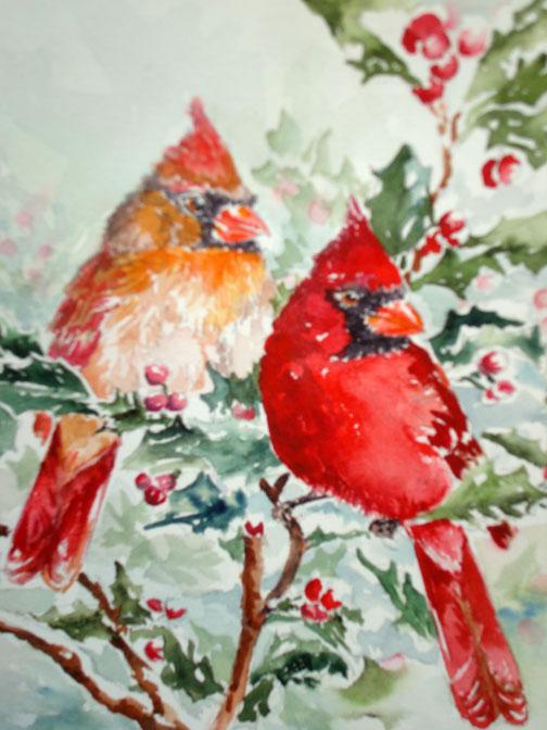 Christmas Cardinals Images.Mollie Jones Christmas Cardinals
