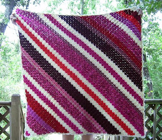 In Stitches: corner-to-corner crochet throw finished