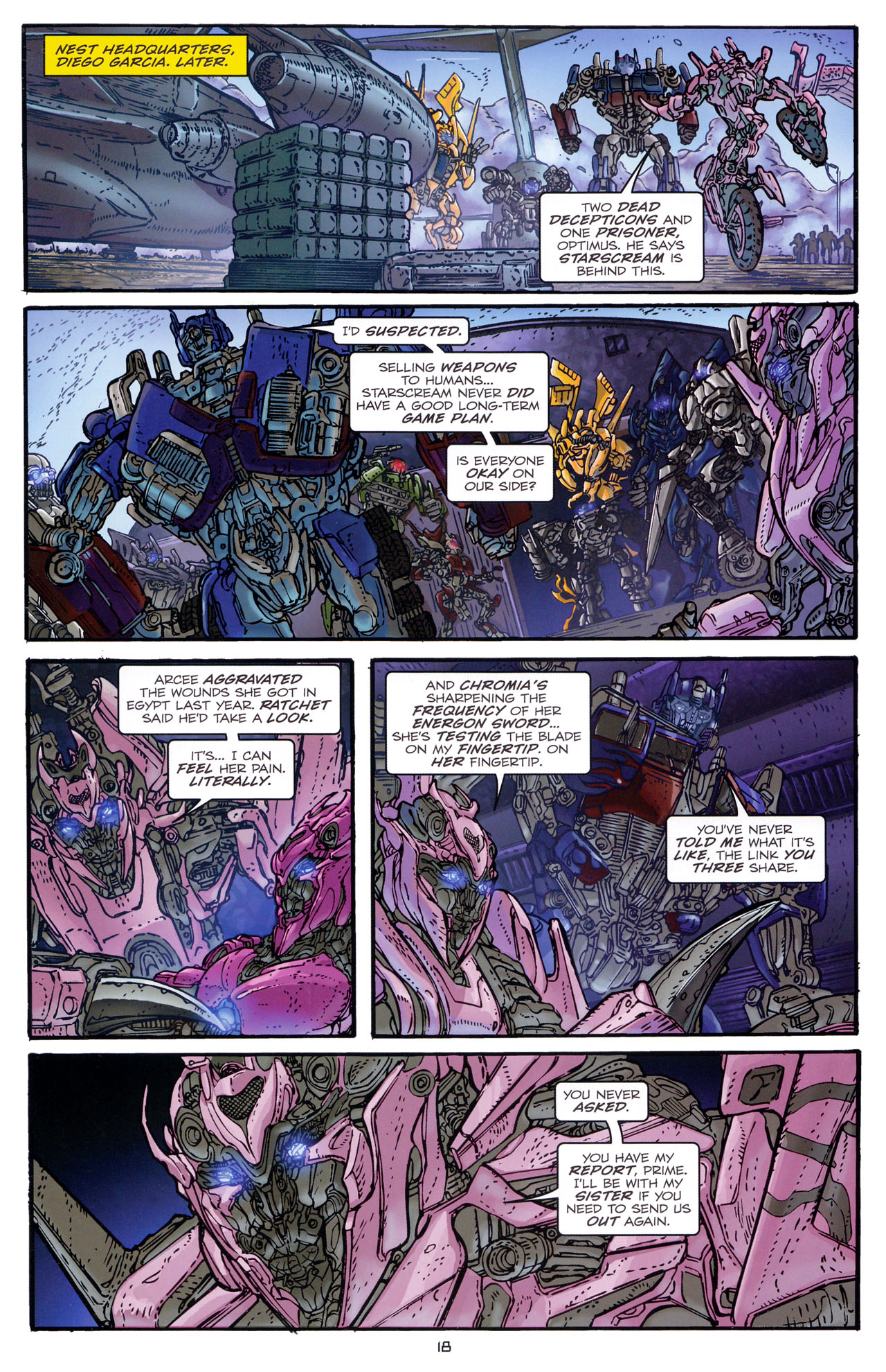 Read online Transformers: Dark of the Moon Rising Storm comic -  Issue #1 - 21