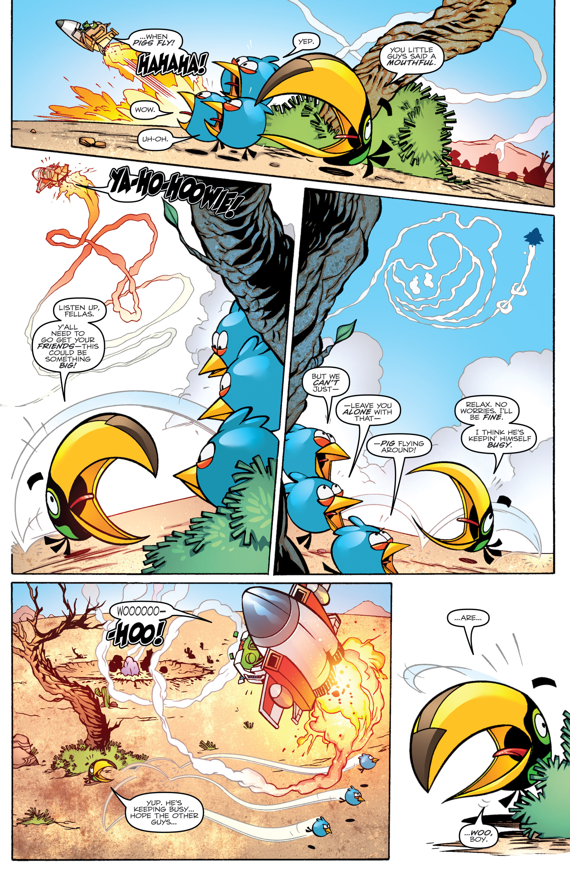 Read online Angry Birds Transformers comic -  Issue #1 - 16