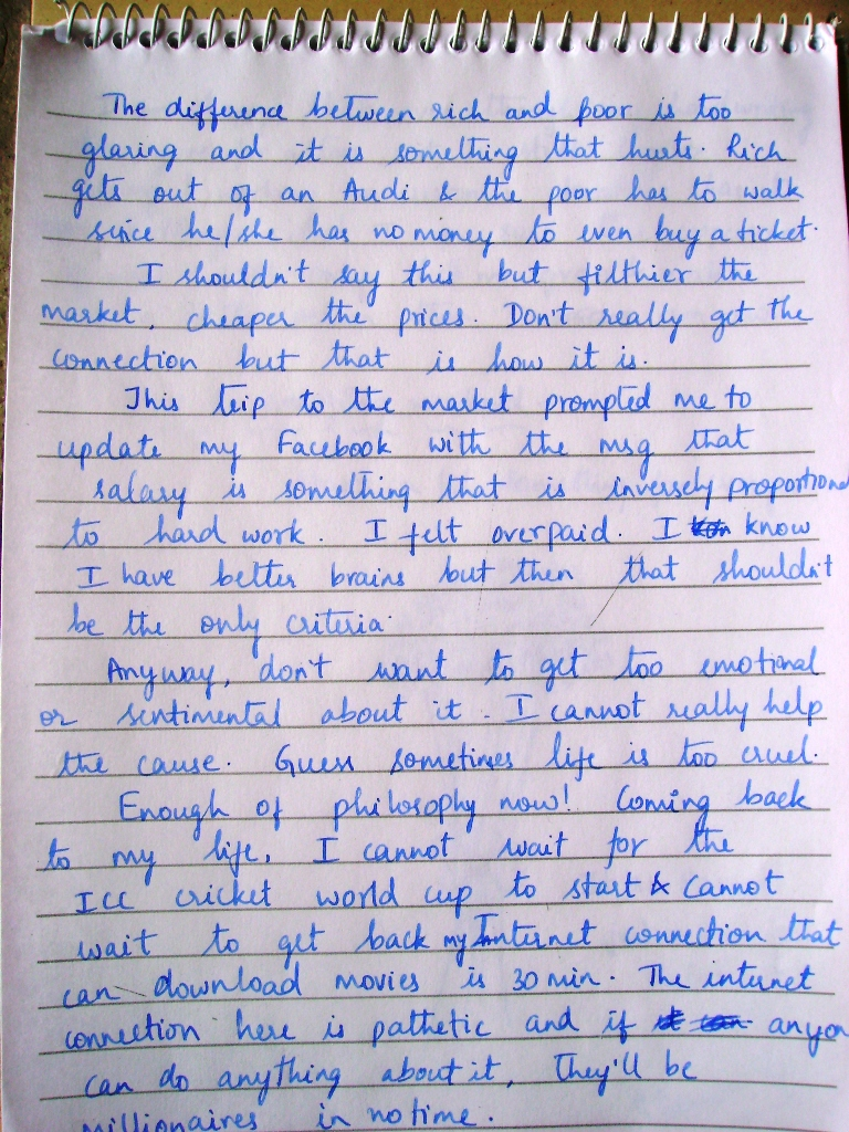 Post A Handwritten Blog In Case The Written Font Is Not Too Clear You Can Click On Picture To Enlarge And Read Hope Enjoy It