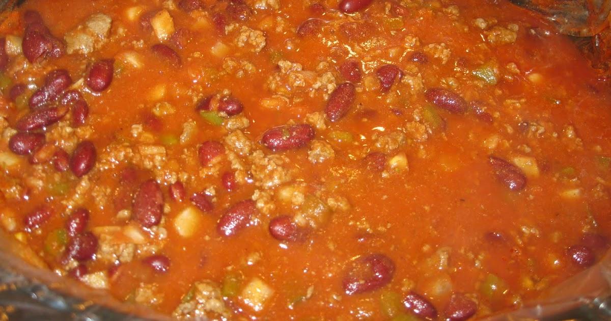 Nana S Recipe Box Not So Spicy Crock Pot Chili