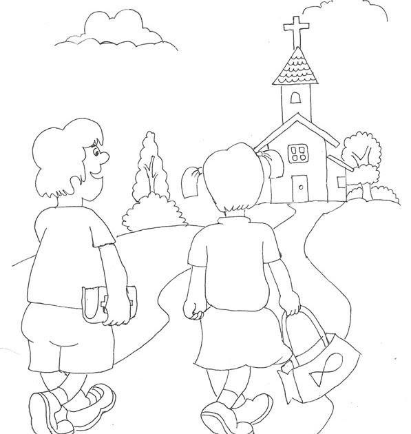 980+ Gambar Untuk Mewarnai Anak Sekolah Minggu Gratis