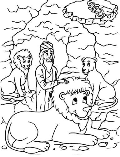 Gambar List Mewarnai Daniel Gua Singa Pict Pictures Sekolah Minggu