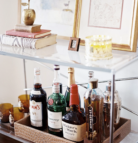 16 Amazing Contemporary Home Bars For The Best Parties: Elegant Modern: Style My House: Bar Tray Table