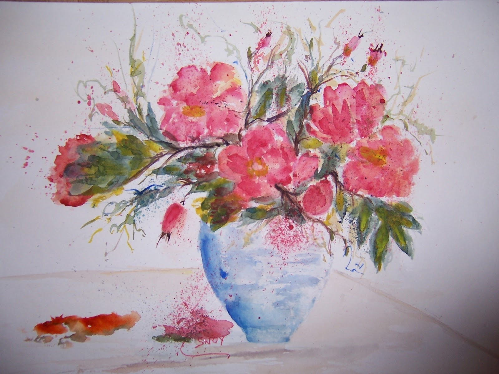 Aquarelle von CSnoy Blumen