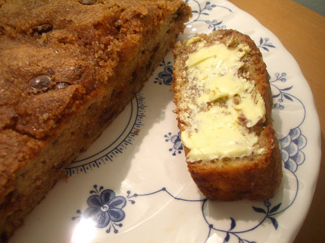 Jen's Banana Bread with Chocolate & Cinnamon Sugar