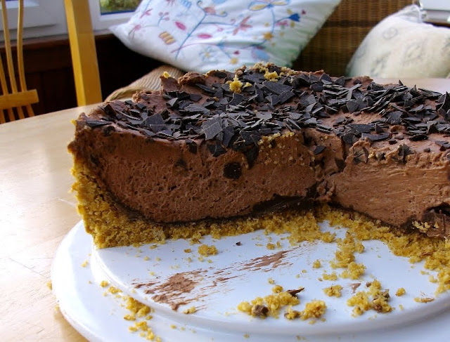 Deep Chocolate Cheesecake with an added layer of chocolate