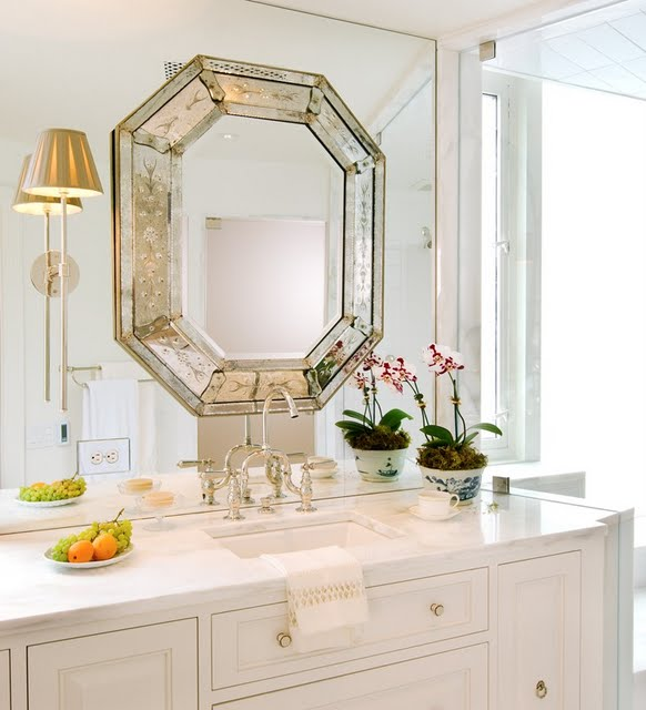 Decor To Adore: Hanging A Mirror OVER Another Mirror