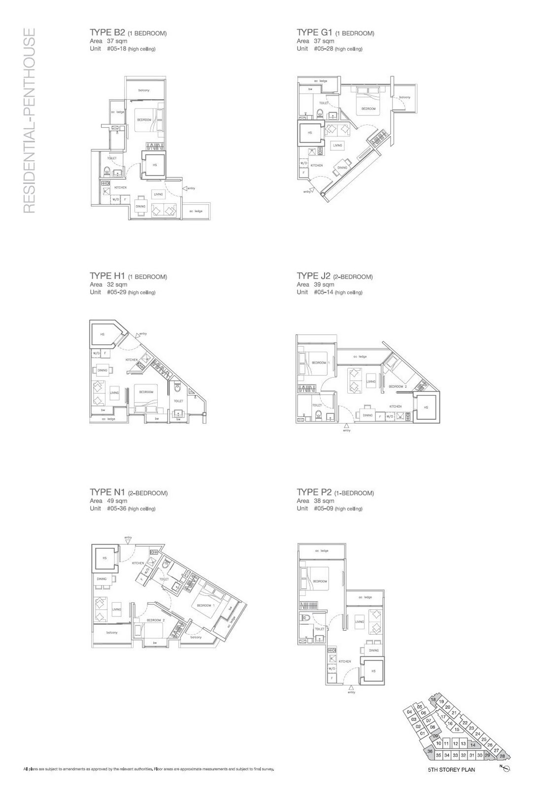 B2 G1 H1 J2 N1 P2 Floorplan
