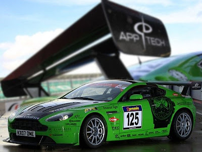 Aston Martin Sport Cars Green Vantage V12 Race Car