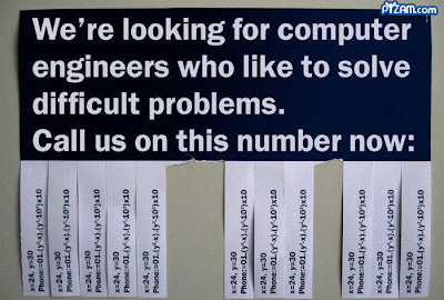 photo of a job offer for computer programmers