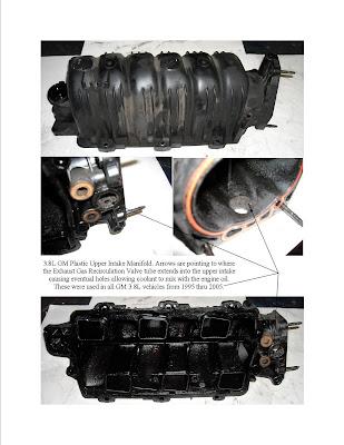 Bernard's Blog: GM 3 8L Plastic Composite Intake Manifold